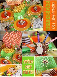 Free Thanksgiving Kids Table printables