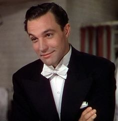Gene Kelly's 'Singin' In The Rain'  tux - flawless silk blow tie on gene kelly. w.sharpesuiting.com