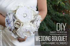 DIY Wedding Bouquet with Fabric Flowers