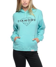 Keep your style shinning with this Brilliant diamond blue hoodie from Diamond Supply Co. A bright blue color with a Diamond Supply Co. logo on…