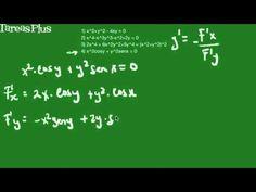 ejemplos derivación implicita con fórmula parte 2