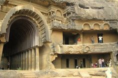Elephanta Caves is a Century Cave temple dedicated to Lord Shiva. Find Elephanta Caves timing, distance from Mumbai, history, how to reach, all details. Indian Rock Cut Architecture, India Architecture, Ancient Architecture, Beautiful Architecture, 1 Day Trip, Great Buildings And Structures, In Mumbai, Mumbai Airport, Ancient Ruins