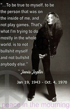 "Janis Joplin: ""To be true to myself ... #music #janisJoplin"