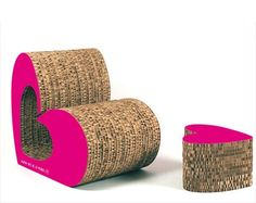 Cardboard Armchair - Love sofa - free template
