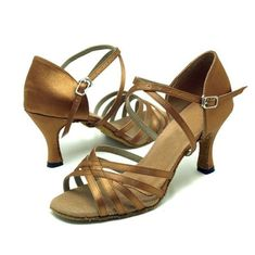 OrangeblackredbronzeApricot five tape satin of Ladies Latin dance shoes EU36US65235CM Bronze ** Be sure to check out this awesome product.