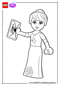 Coloring Page Lego Disney Princesses