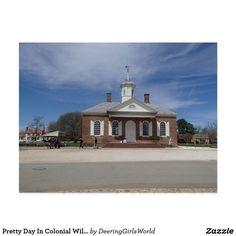 Pretty Day In Colonial Williamsburg, VA Postcard
