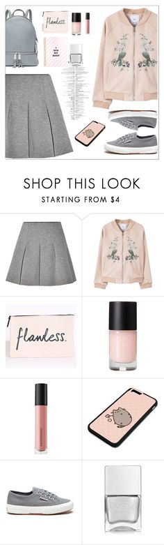 Untitled #436 by jovana-p-com on Polyvore featuring moda, MANGO, T By Alexander Wang, Superga, MICHAEL Michael Kors, Pusheen, Bare Escentuals and Nails Inc.