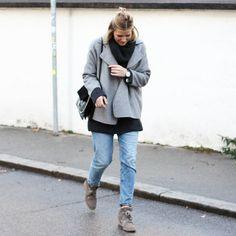 tifmys - Zara jacket, H&M knit and denim, Chloé Faye bag & Isabel Marant Bobby sneakers.