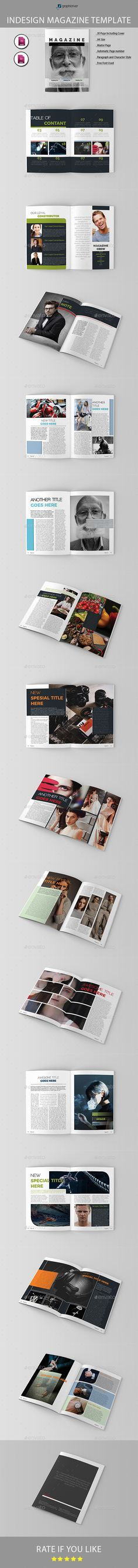 Magazine Template03 by line04 The Magazine Brochure Template that is super simple to edit and customize with your own details! Can be used for other business to