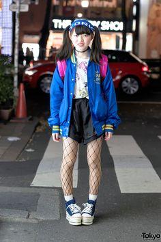 cool outfit. the Powerpuff Girls plush is cute: http://tokyofashion.com/wp-content/uploads/2016/03/Twin-Tails-Platforms-Harajuku-20160103DSC9197.jpg ... Nanami, 17 years old, student | 11 March 2016 | #Fashion #Harajuku (原宿) #Shibuya (渋谷) #Tokyo (東京) #Japan (日本)