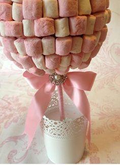 Marshmallow come centrotavola matrimonio low cost e originale
