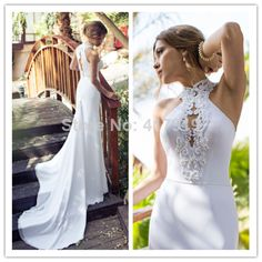 Mermaid High Neck Pearls Crystal Lace Bridal Gown Long keyhole Vestido De Noiva Julie Vino Wedding Dress 2014 custom made JW21