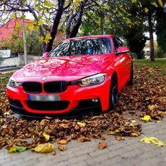BMW gedippt mit mibenco SPRÜHFERTIG rubinrot glänzend und AutoSprühFolie HIGHGLOSSFINISH Klarlack
