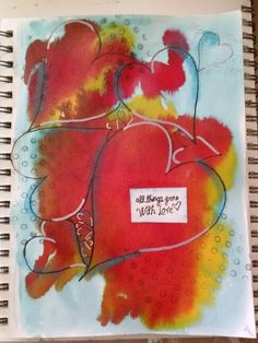 Hearts art journal page