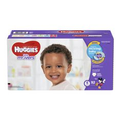 HUGGIES Little Movers Diapers, Size 6, 92 Diapers