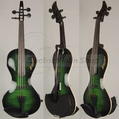 This is incredible! An electric violin that in green! :)