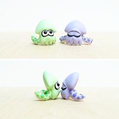 Splatoon Squid Commission Handmade Polymer Clay by lyrese.deviantart.com on @DeviantArt