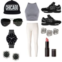 Sporty by mathildajkosasih on Polyvore featuring polyvore, fashion, style, MM6 Maison Margiela, Mark Broumand, The Horse, MANGO and Ray-Ban