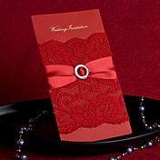 convite de casamento delicada vermelho com la... – EUR € 32.99