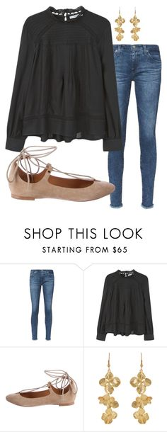 """""""And You are for us; You are not against us."""" by swwbama ❤ liked on Polyvore featuring AG Adriano Goldschmied, MANGO and Kenneth Jay Lane"""