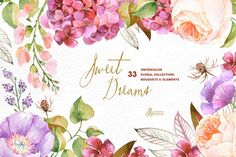 Sweet Dreams. Floral Collection - Illustrations