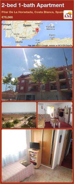 2-bed 1-bath Apartment in Pilar De La Horadada, Costa Blanca, Spain ►€75,000 #PropertyForSaleInSpain