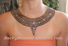 henna for necklace | Hennaed necklace RockyMountainHENNA.com