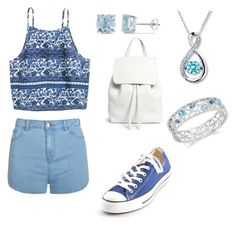 """Blues"" by tiffany-blue-tardis ❤ liked on Polyvore featuring Mansur Gavriel, Ally Fashion, Converse and Ice"