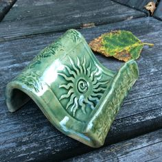 Cell Phone Holder Business Card Holder Pottery Ceramic Sun by NorthernWoodsStudio on Etsy