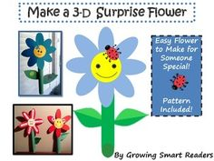 Free Flower Craft {Super Simple & Easy with Pattern} Here's one of the easiest and simplest crafts to make.