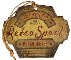 Reebok Sports Retro Sport Premium Tee Hang Tag