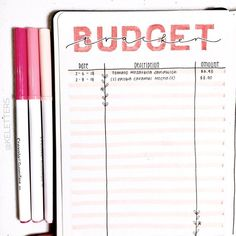 Bullet Journal Budget Layouts To Master Your Finances - AnjaHome - - You're ready to take control of your family budget. Here you can find over 20 bullet journal budget layouts that'll help you to organize your finances. Bullet Journal Tracker, Bullet Journal Budget, Bullet Journal Spread, Bullet Journal Inspo, Bullet Journal Spending Log, Bullet Journal Finance, Bullet Journals, Bullet Journal Markers, Bullet Journal Student