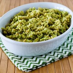 Pesto Lemon Rice - i'll probably use a mix of brown rice and quinoa for this!