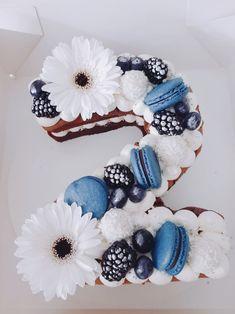 Number Birthday Cakes, Cute Birthday Cakes, Beautiful Birthday Cakes, Number Cakes, Mini Cakes, Cupcake Cakes, Country Birthday Party, Yoda Cake, Alphabet Cake
