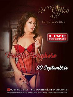 Valeria Borghese coming soon 😎 Join us this Saturday night, get the feeling and never leave it! 🤤 #21stoffice #gentlemansclub #bucharest #romania #valeria #borghese #porn #star #famous #doitmyway #letsdoit #saturday #30th #september #coming #soon