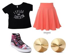 """""""Bailey and Aidan"""" by supergeekgirl591 on Polyvore featuring QNIGIRLS, Vans and Eddie Borgo"""