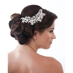 Daphne Floral Trailing Comb - in Swarovski Crystal - Bridal Jewellery - Crystal Bridal Accessories