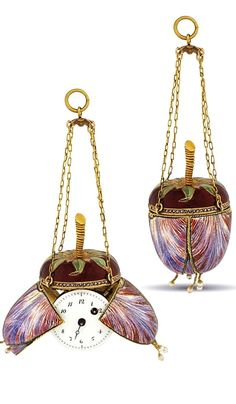SWISS - FINE GOLD AND ENAMEL MANUALLY-WOUND TULIP-SHAPED FORM WATCH, CIRCA 1825