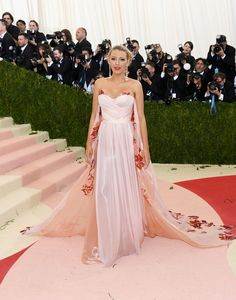 Blake Lively in Burberry at The Met Gala 2016
