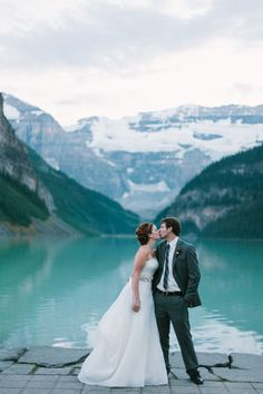 Ha! Yeeess. Please and Thank you! :) amazing location! | Gorgeous Mountain Wedding in Alberta | Images by Diane + Mike Photography