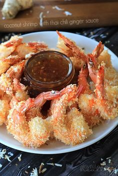 Can't stop poppin these in my mouth! Coconut Shrimp with Thai Chili Ginger Sauce  | www.joyfulhealthyeats.com