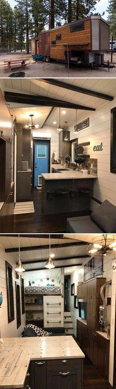 The Empty Nester is an award-winning tiny house from Kamtz Tiny Home Company. The 36' tiny house won Best in Show at the 2017 Colorado Tiny House Festival.