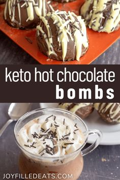 Keto Hot Chocolate Bombs are the treat you have been dreaming of, and you didn't even realize it. The result is a cup of super creamy, rich, and delectable hot chocolate, unlike anything you have had before. The best part is that they have only 4 ingredients and 4 net carbs! Sugar Free Hot Chocolate, Mexican Hot Chocolate, Homemade Hot Chocolate, Hot Chocolate Mix, Chocolate Recipes, Sugar Free Desserts, Low Carb Desserts, Gluten Free Desserts, Delicious Desserts