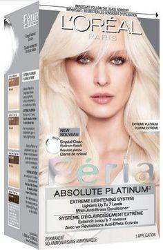 L'Oréal Paris Feria Extreme Platin Hair Colour « SC Beauty Network Free Shipping Available - Haircare. #makeup #cosmetics #makeuptips #hair