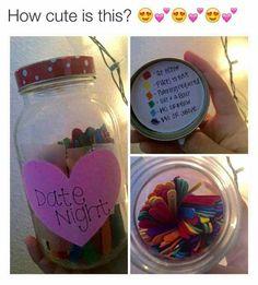 Cute date night jar