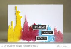 Alice's {Little} Wonderland: My Favorite Things Color Challenge #29 | sending happy hello