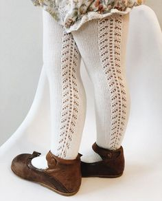 old fashioned knit stockings for toddlers You are in the right place about toddler girl outfits dres Little Girl Fashion, Toddler Fashion, Toddler Outfits, Fashion Kids, Trendy Fashion, Fashion 2016, Outfits Niños, Kids Outfits, Fashion Outfits