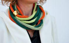 Handmade scarf in multi color
