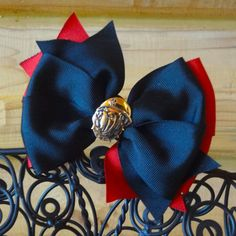 USMC Bulldog Hair Bow by MegansHairCandy on Etsy, $8.50